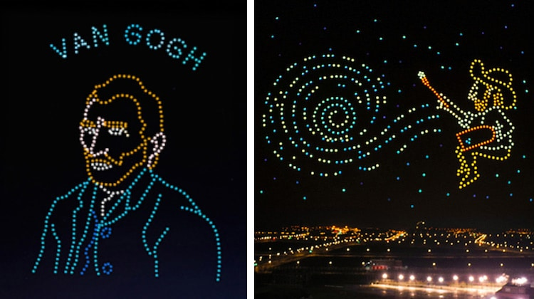 Starry Night Drone Light Show