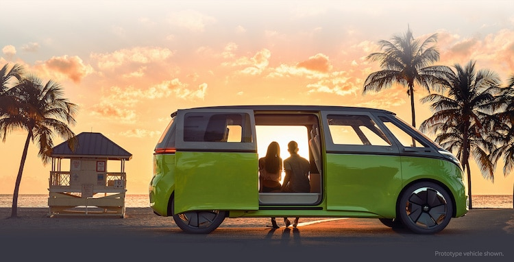 Volkswagen ID Buzz at Sunset