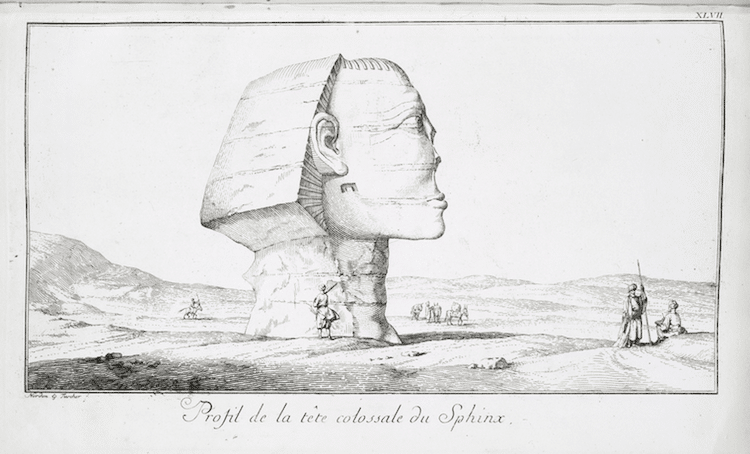Old Sketch of the Great Spinx of Giza
