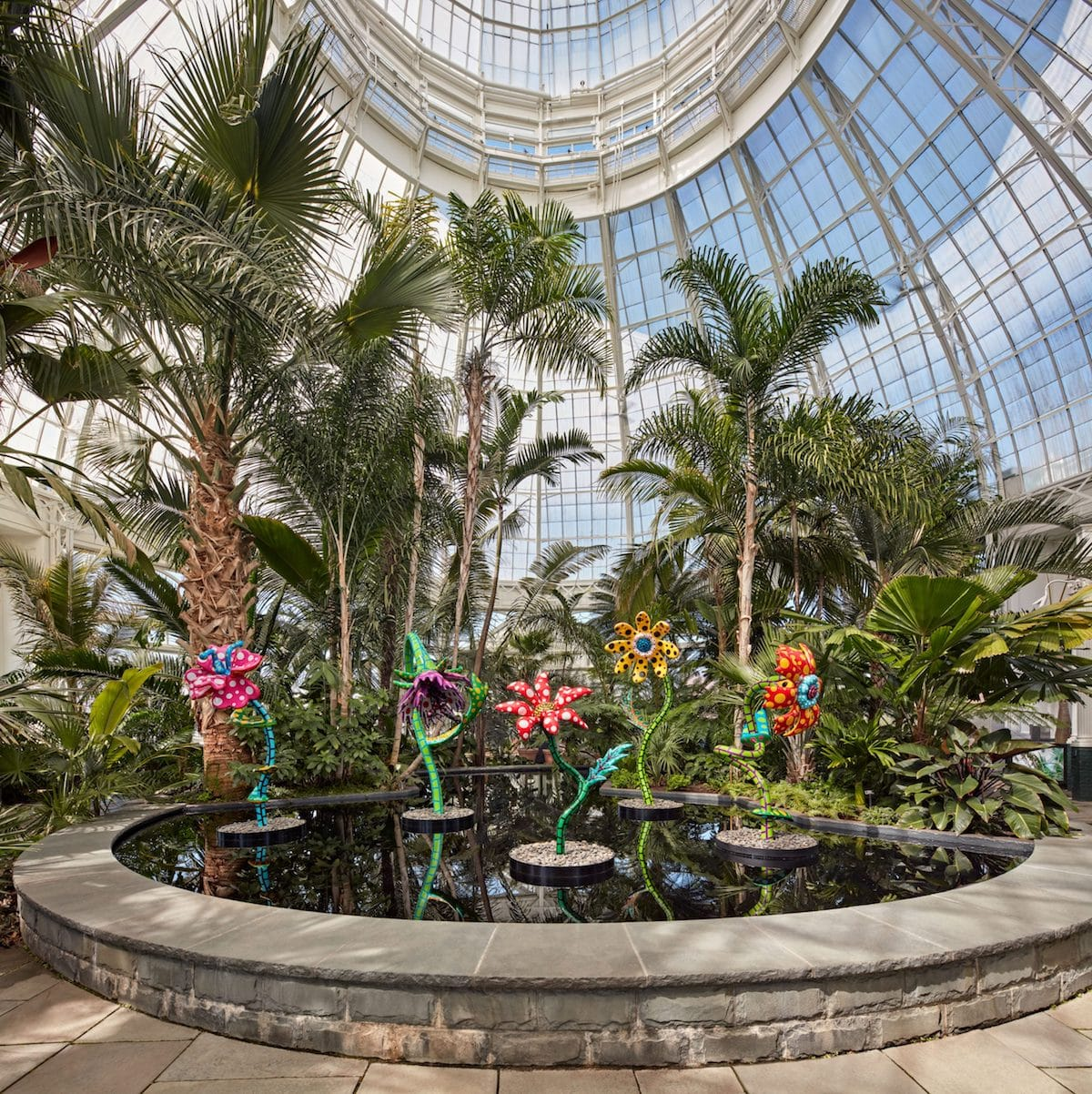 Yayoi Kusama Exhibition at the New York Botanical Gardens