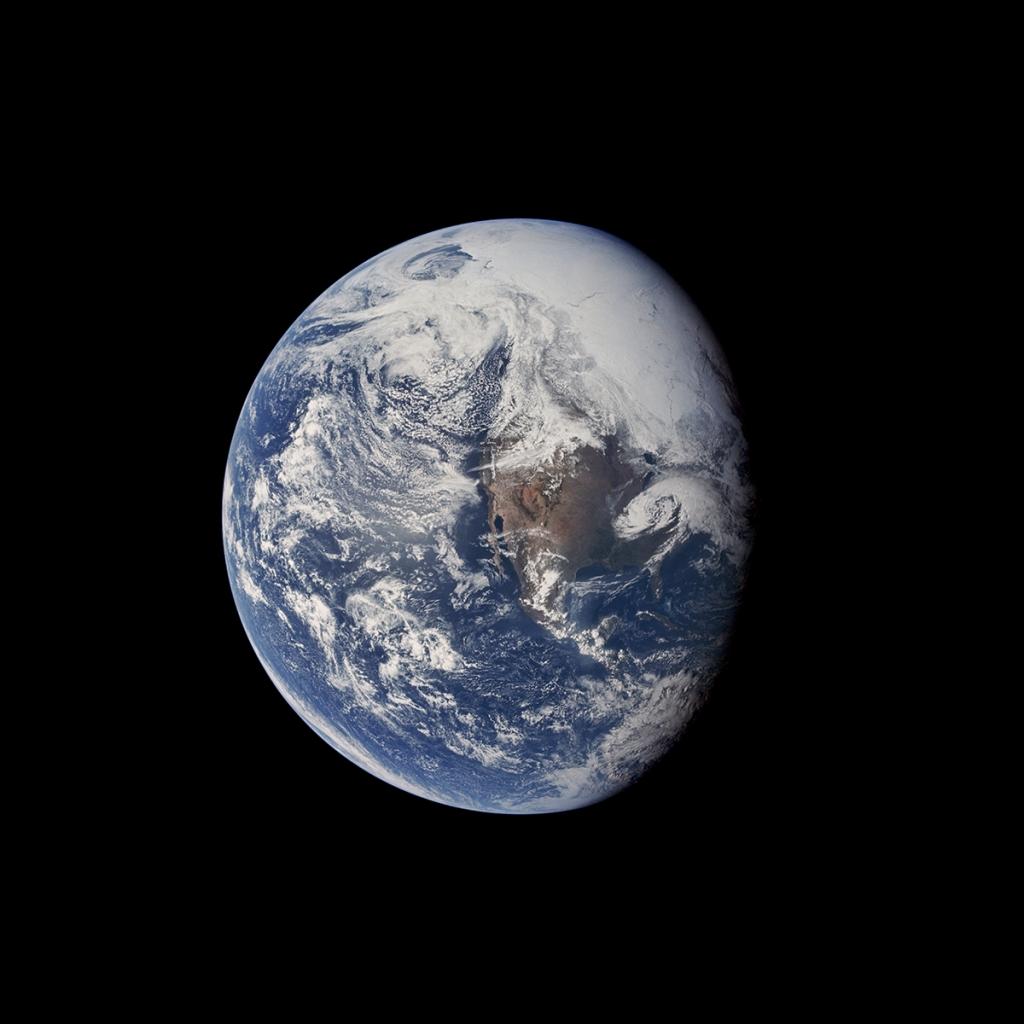 fotografia de la tierra de misiones apolo restaurada