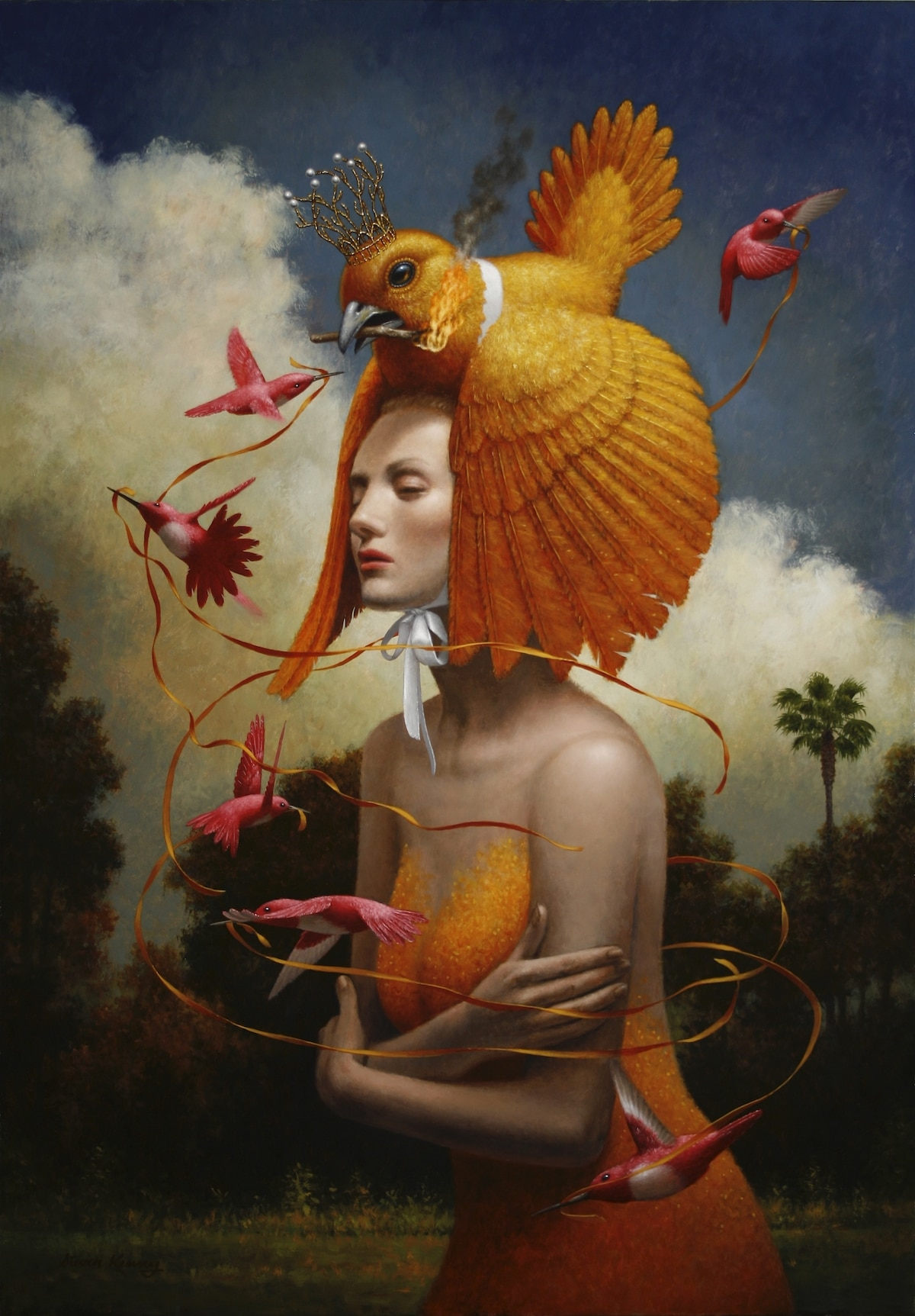 Steven Kenny Painting for the Beautiful Bizarre Magazine Art Prize
