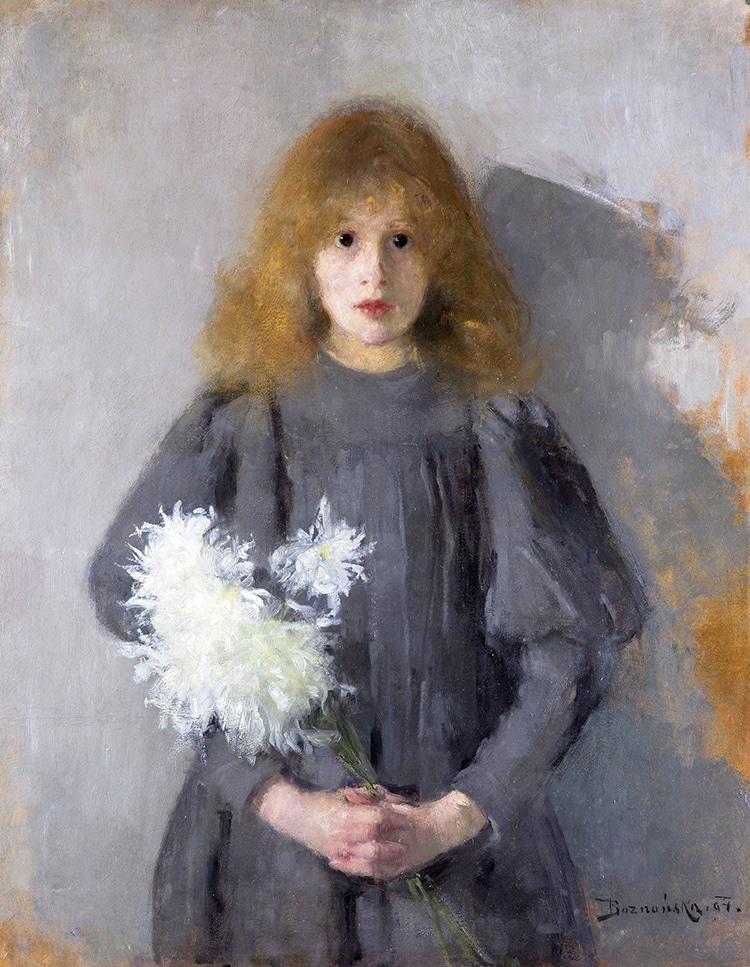 """Girl with Chrysanthemums,"" by Olga Boznańska, 1894."