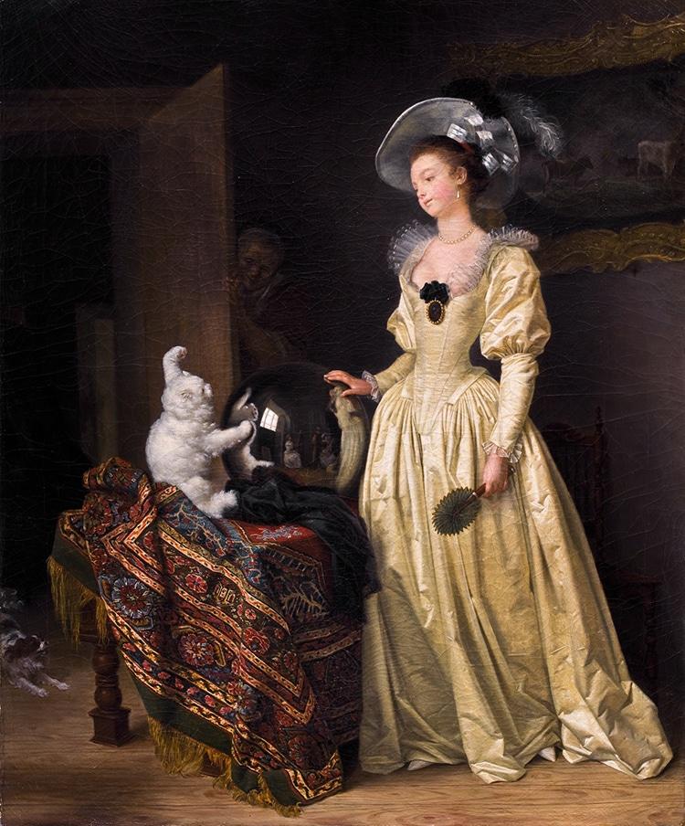 """Le Chat Angora,"" by Marguerite Gérard and Jean-Honoré Fragonard"