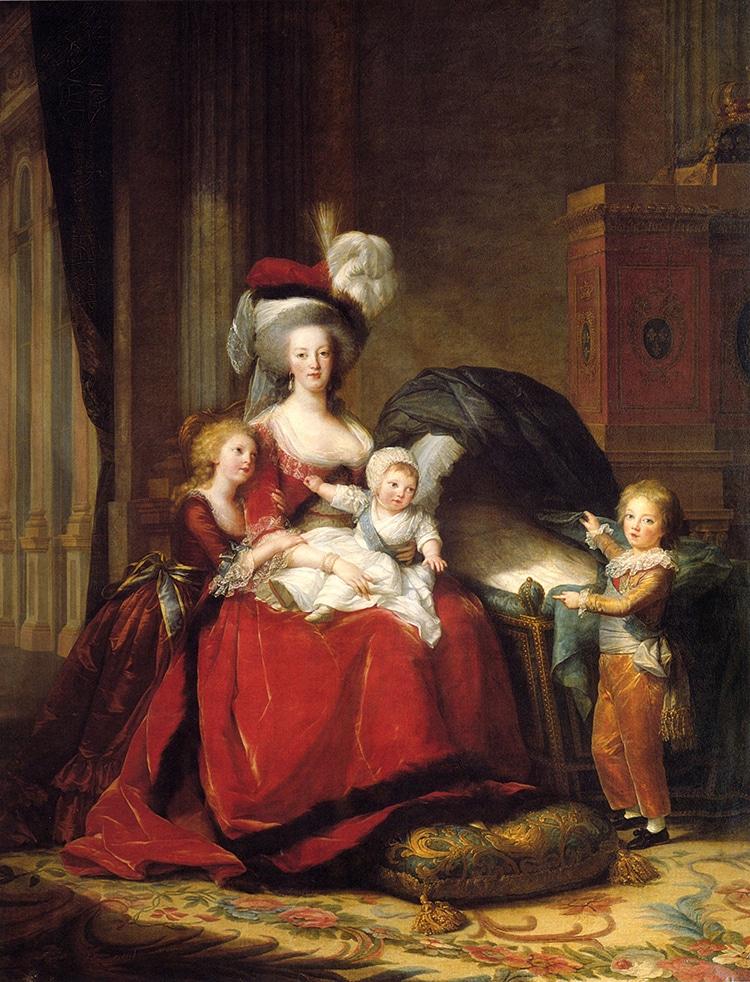 Marie Antoinette and her Children by Élisabeth Vigée-Lebrun