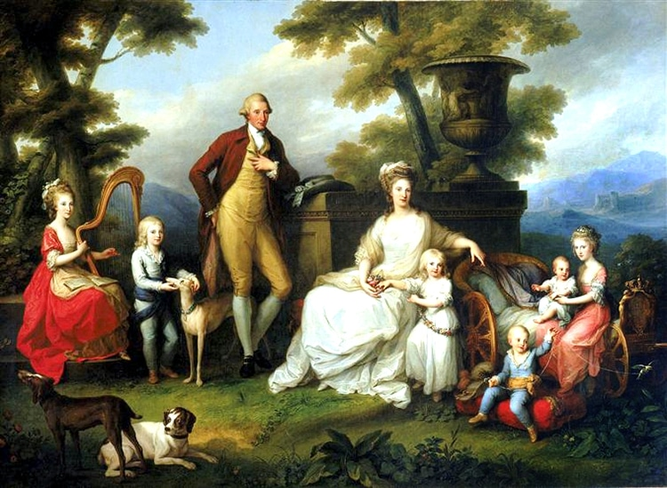 Ferdinando IV and Family by Angelica Kauffmann