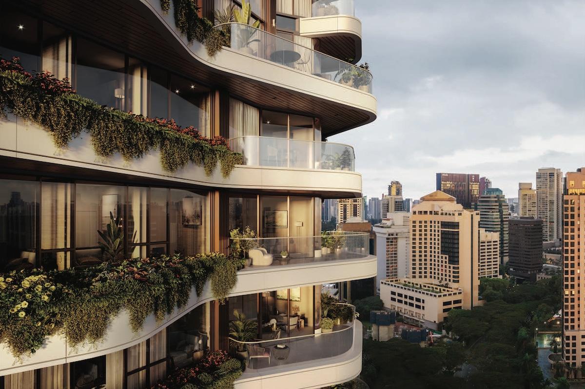 Balcony Gardens on PLP Architects' Park Nova