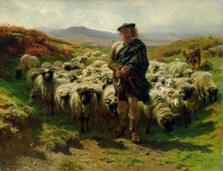 """The Highland Shepherd,"" by Rosa Bonheur, 1859."