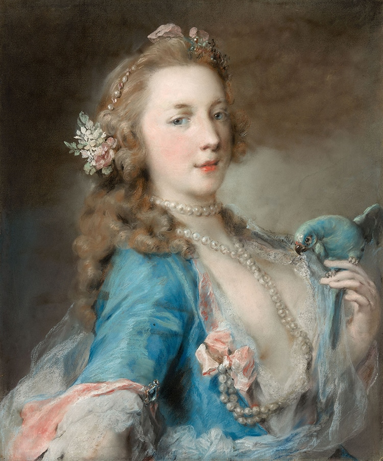 Rosalba Carriera, Young Woman with a Parrot