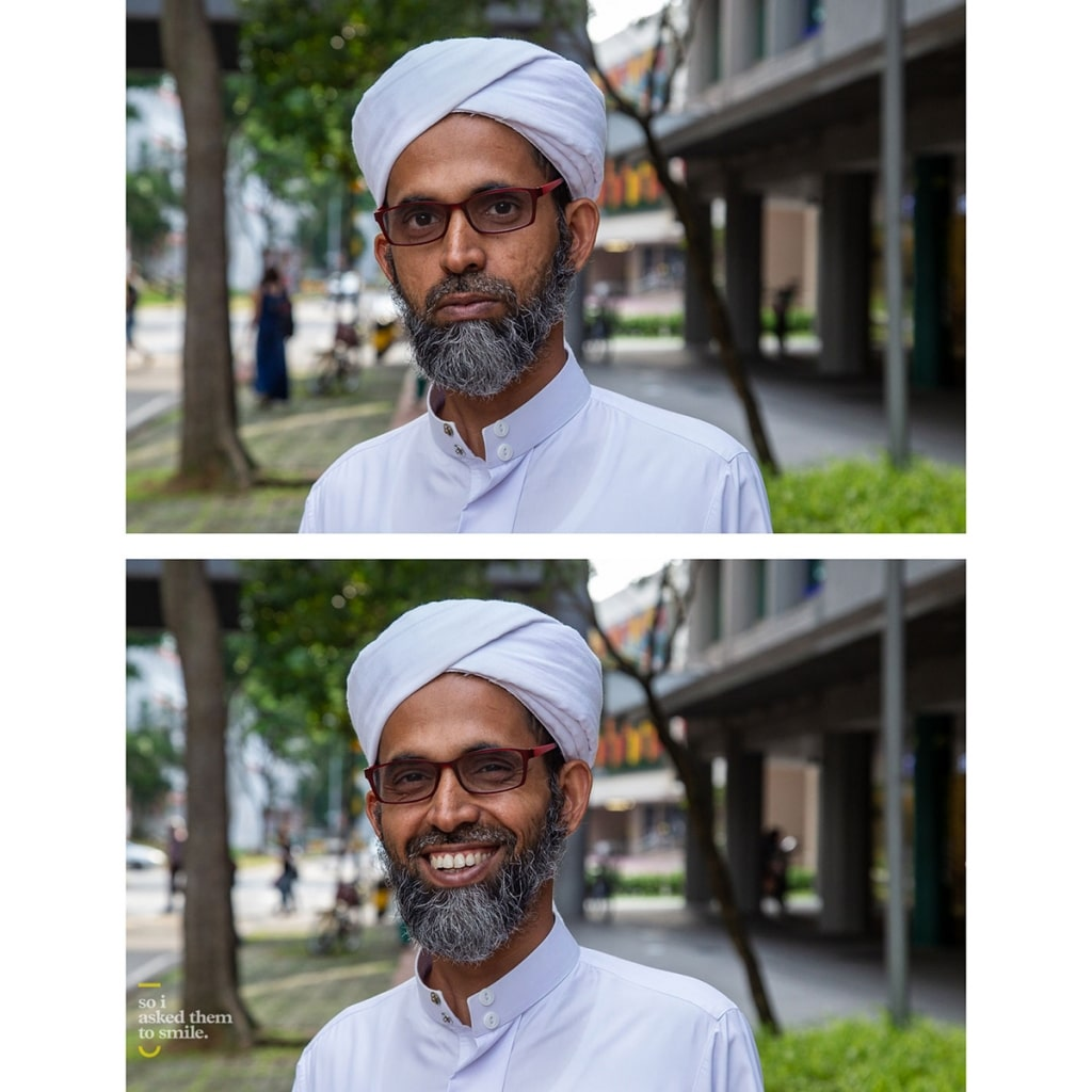 """A man with glasses and a beard smiles at the camera for """"So I Asked Them To Smile"""""""