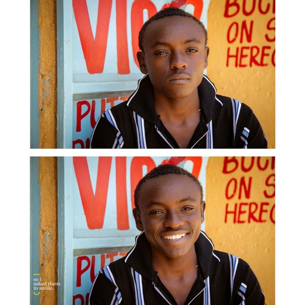 A young man in Nairobi, Kenya Smiles