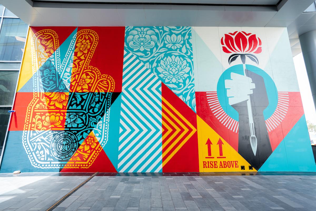 Shepard Fairey Mural in Dubai