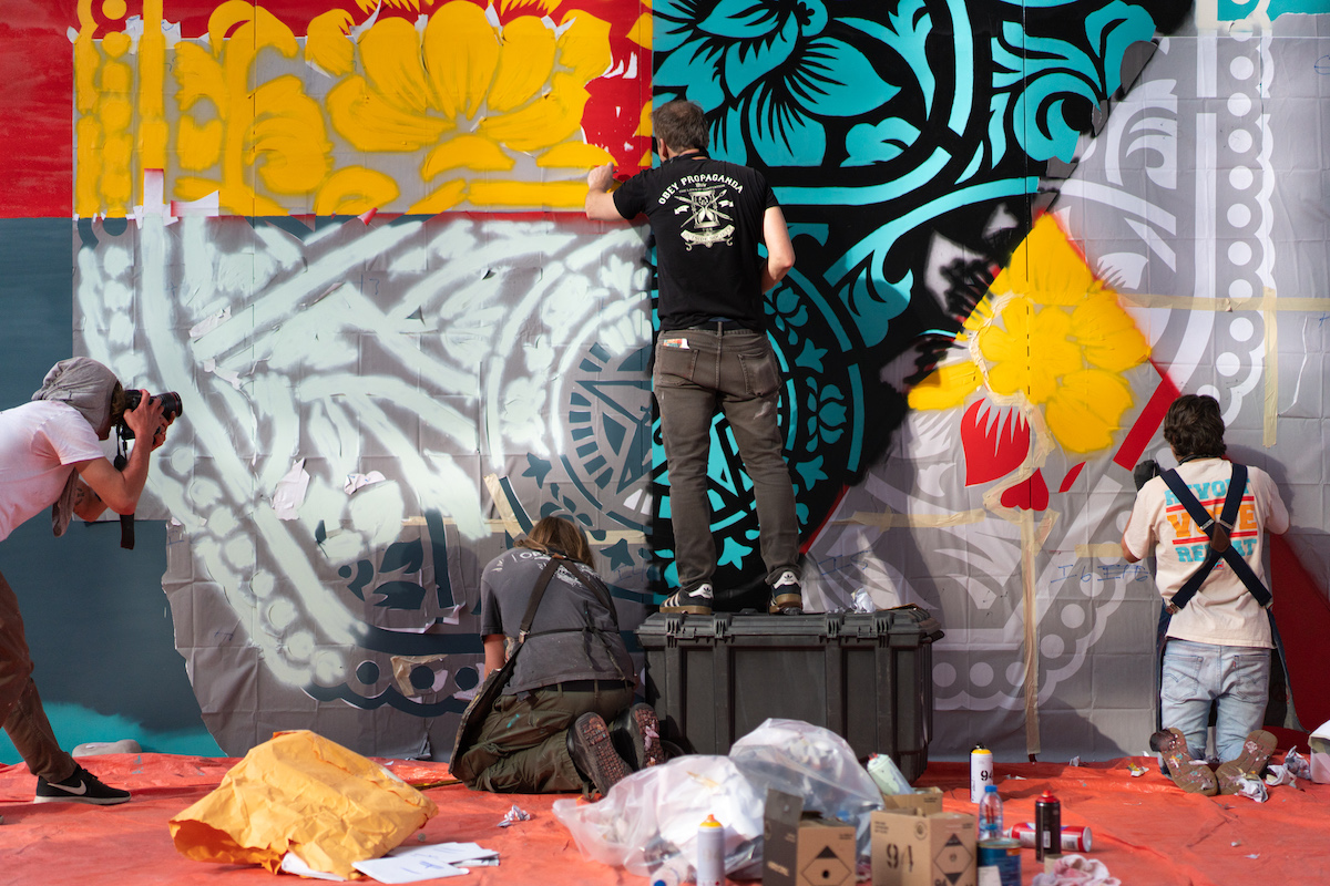 Street Artist Shepard Fairey at Work