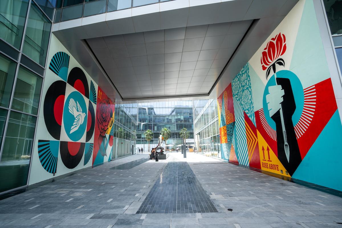 Two Murals by Shepard Fairey in Dubai