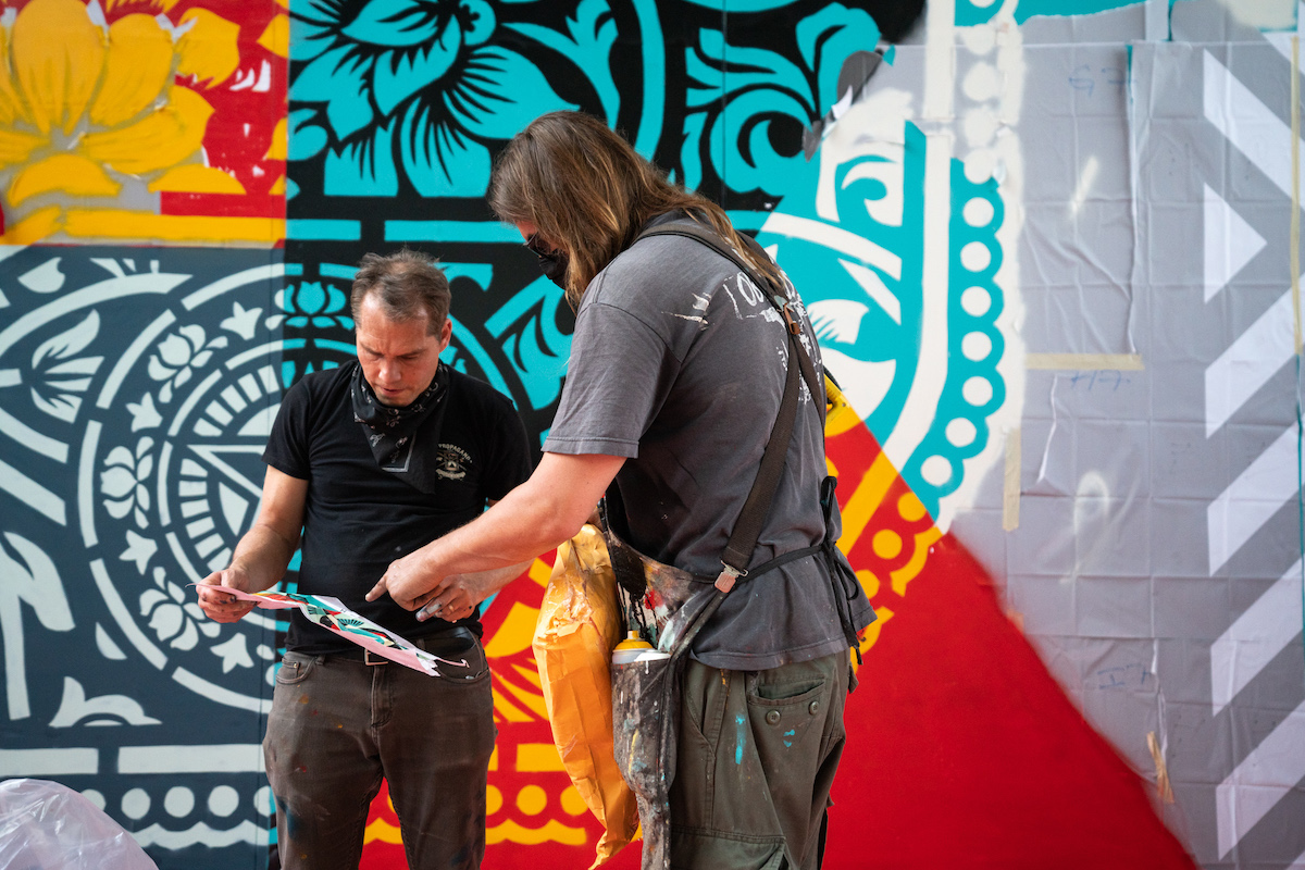 Behind the Scenes of Shepard Fairey Art in Dubai