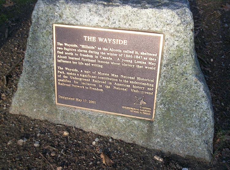 The Wayside Underground Railroad Marker