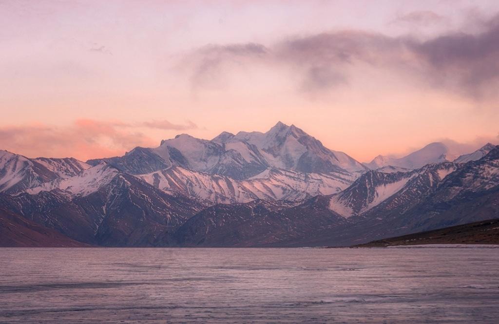 Tso Morri Lake at Sunset