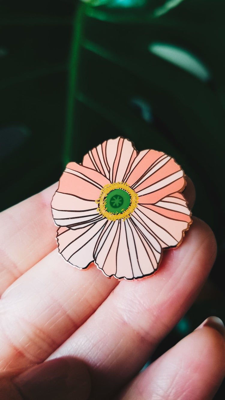 Poppy Enamel Pin
