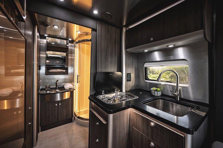 Interior of Airstream Atlas Camper Van