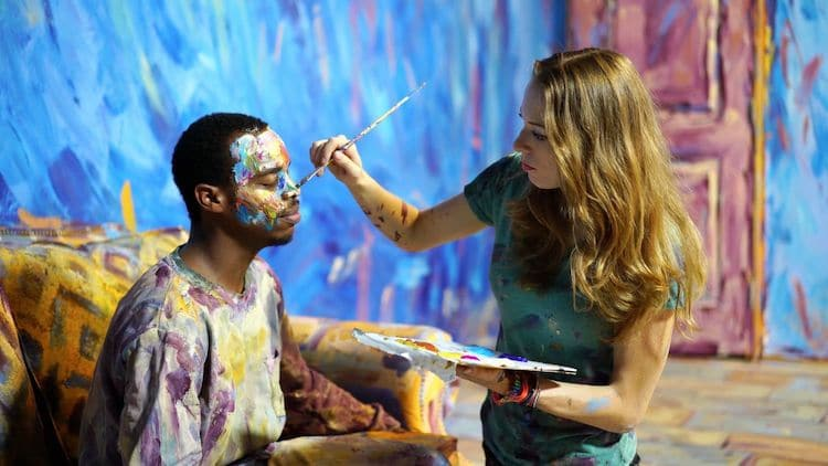 Alexa Meade Painting Lil Buck
