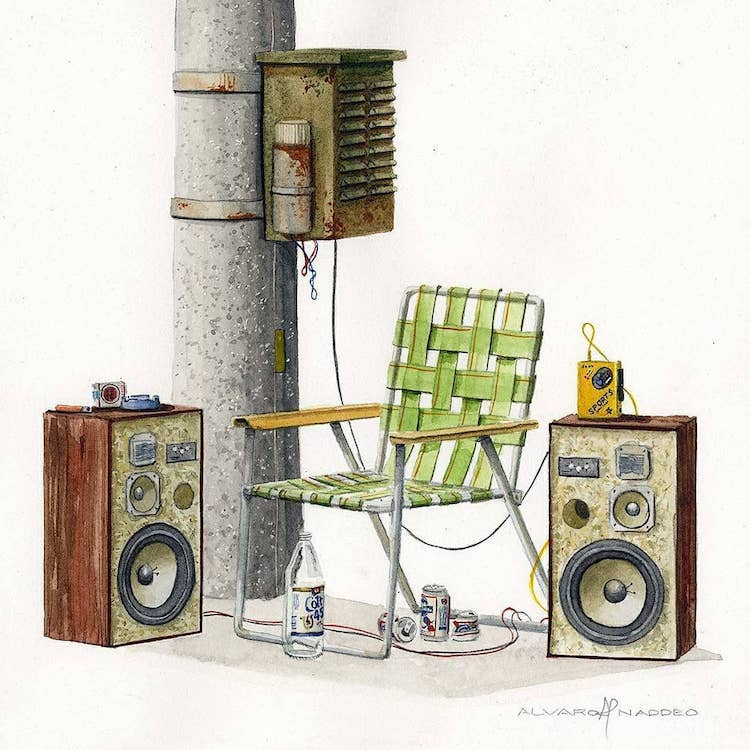 Dystopian Watercolor Illustrations by Alvaro Naddeo