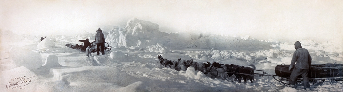 82 N. Latitude, panorama shot during the unsuccessful Ziegler polar expedition of 1903-1905.