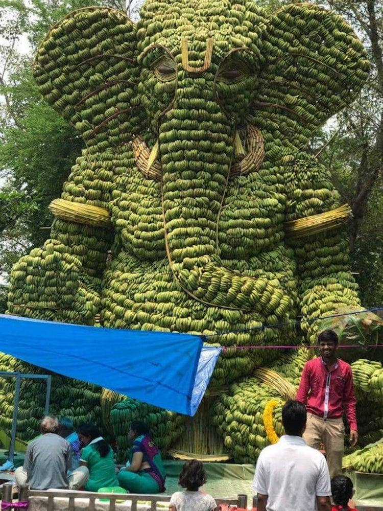 Banana Ganesha Statue