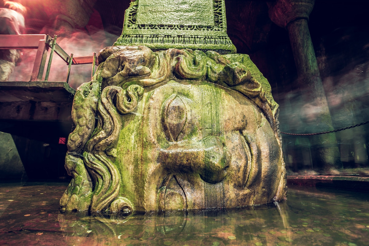 Basilica Cistern, a famous example of Byzantine architecture