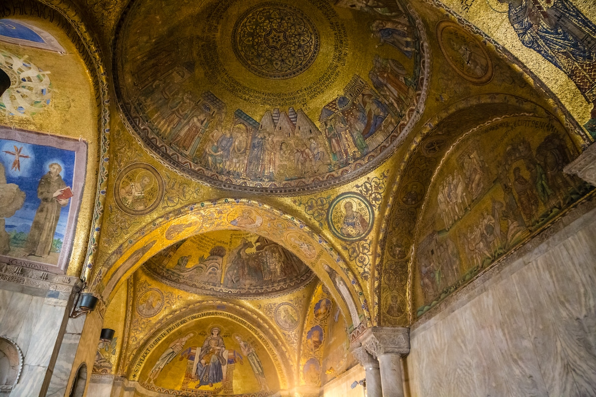 St. Mark's Basilica, a famous example of Byzantine architecture