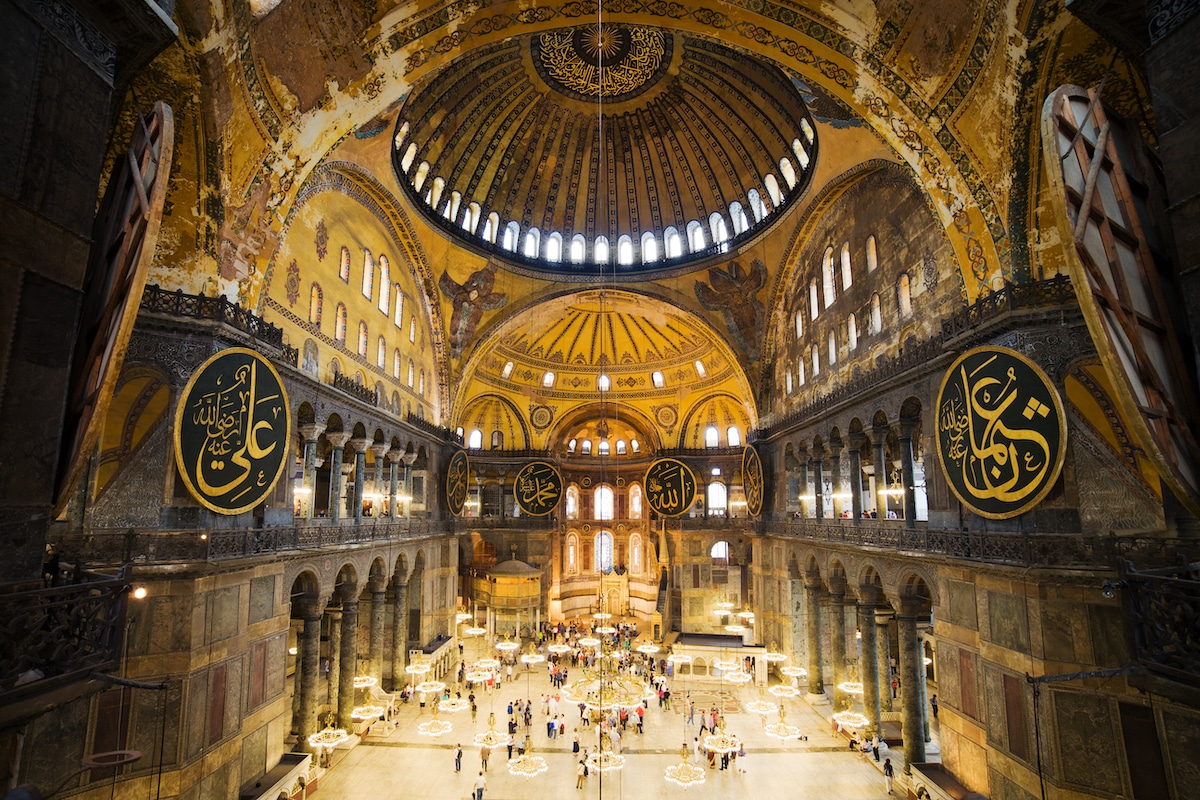 Hagia Sophia, a famous example of Byzantine architecture