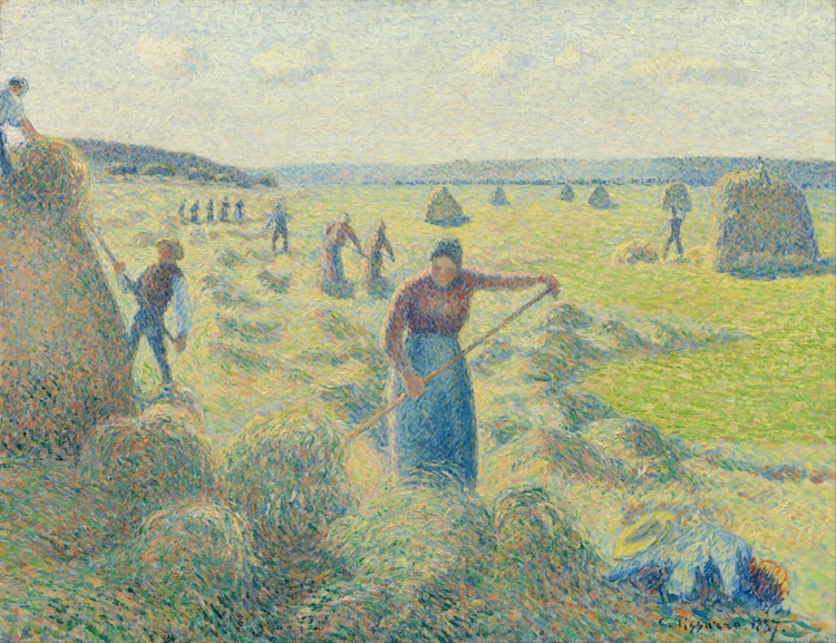 Post-Impressionist Landscape Painting by Camille Pissarro