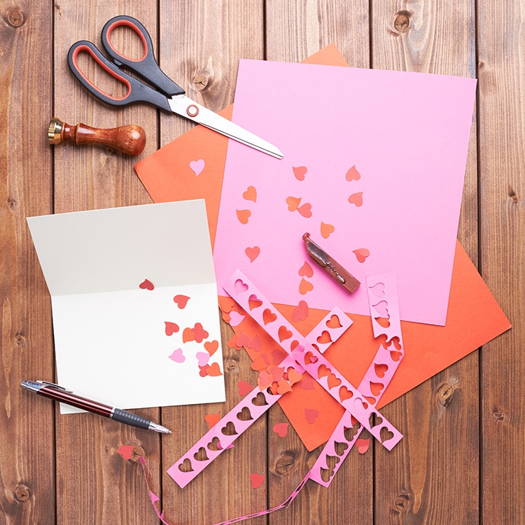 Making a Valentine's Day Greeting Card
