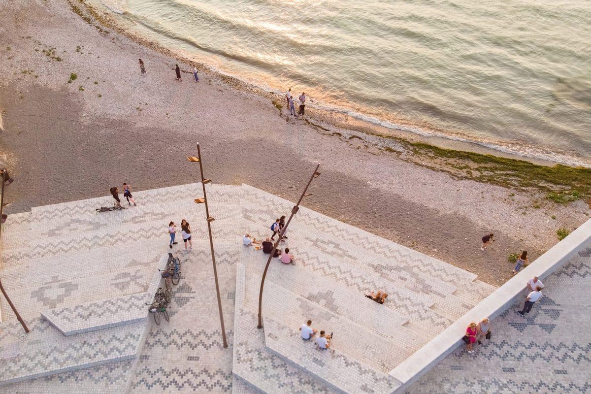 Casanova + Hernandez designed plaza captued by Ergys Zhabjaku