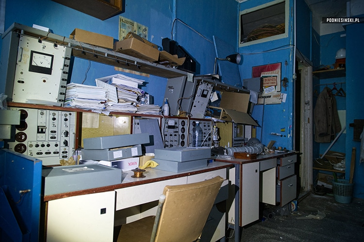 An abandoned electronics workshop in Chernobyl.