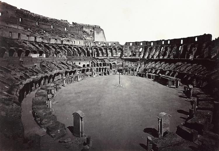 Interior of the Colosseum in the Late 19th Century