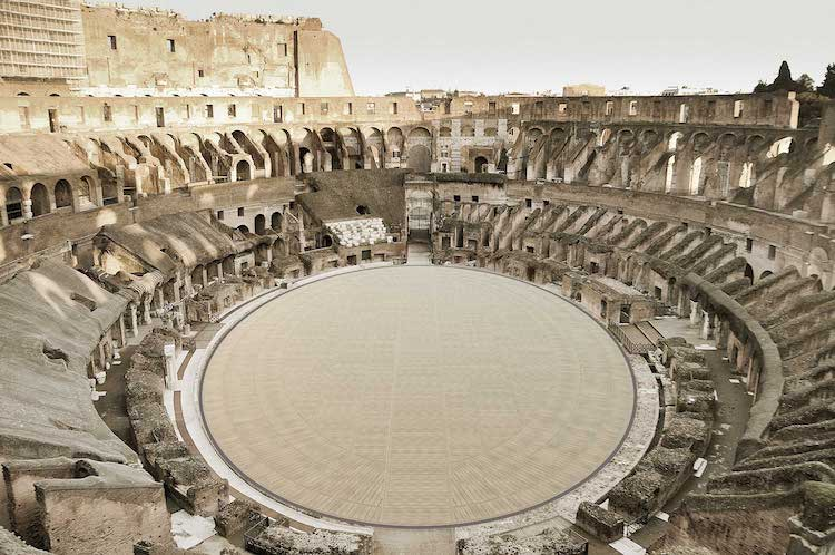 New Floor on the Colosseum in Rome