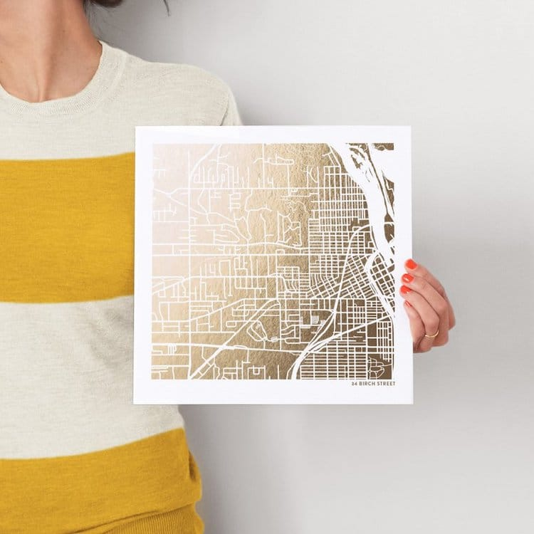 Goil Foil Custom Map Art for Father's Day