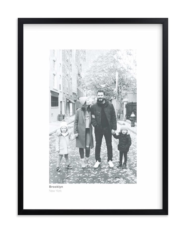 Black and White Photo Art Print for Father's Day