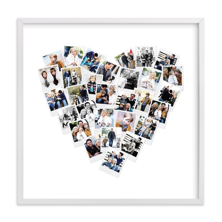 Minted Heart Photo Collage