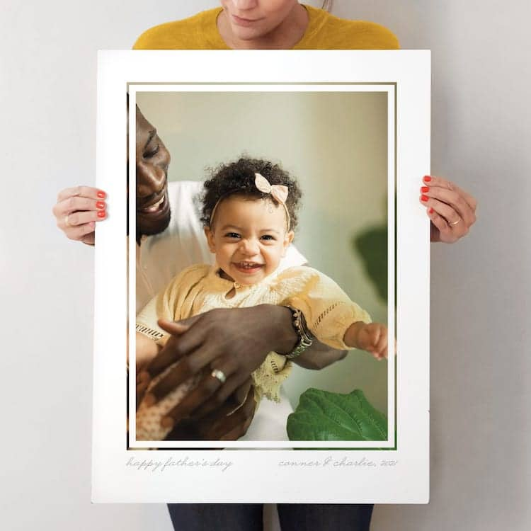 Personalized Photo Print for Father's Day