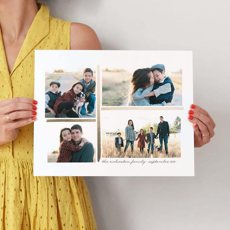 Personalized Photo Collage Father's Day Gift