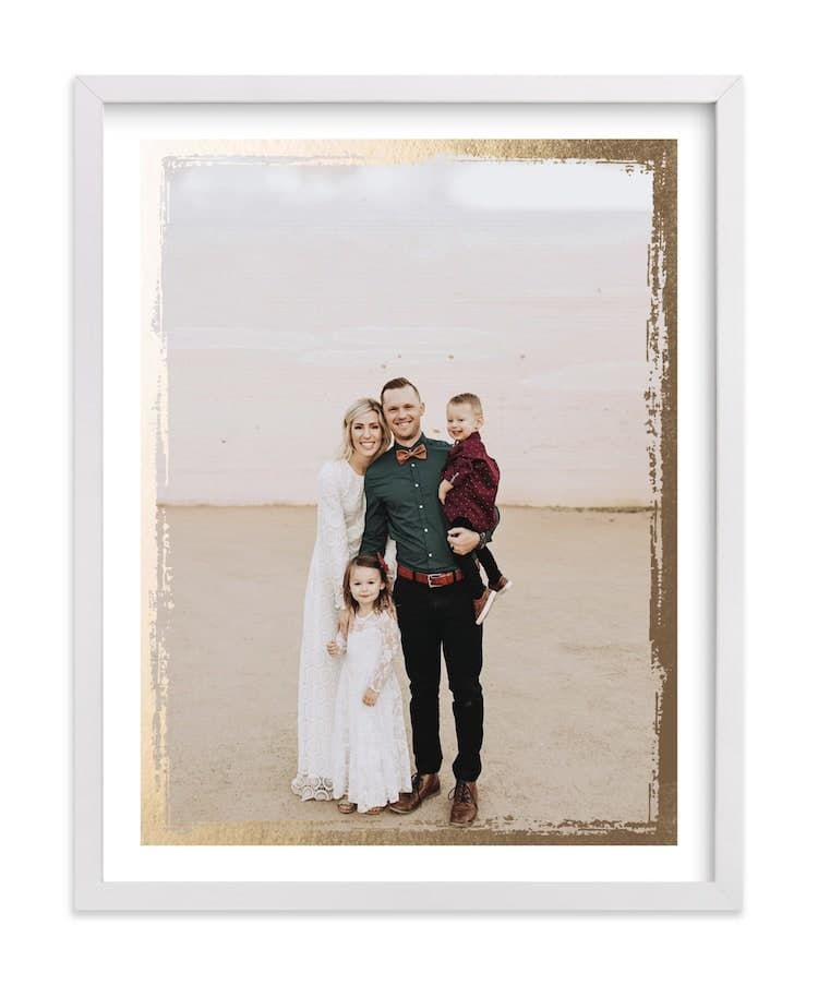 Photo Print with Gold Leaf on Minted