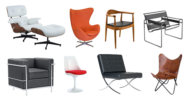 14 Incredible Replicas of Famous Design Chairs You Can Own