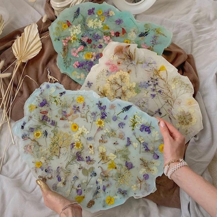 cristales de flores por SARDART y Katerina Marchenko