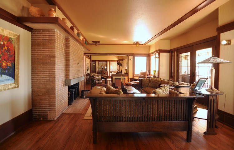 Sutton House, a Wright-designed building the Frank Lloyd Wright Building Conservancy's Way Out and About Wright 2021 Virtual Tour