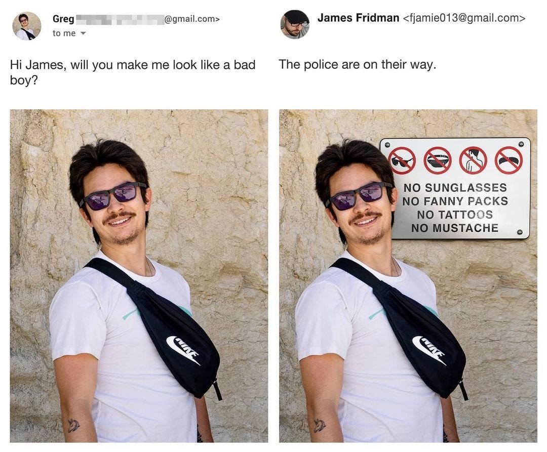 Photoshop Troll James Fridman