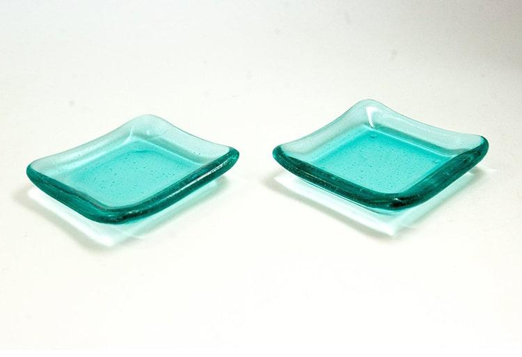 Fused Glass Tea Light Holder Dish