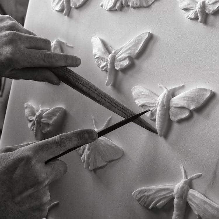 Marble sculpture by Hakon Anton Fageras