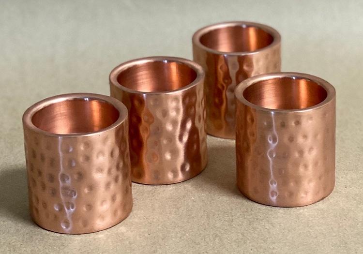 Hammered Copper Tea Light Candle Holder
