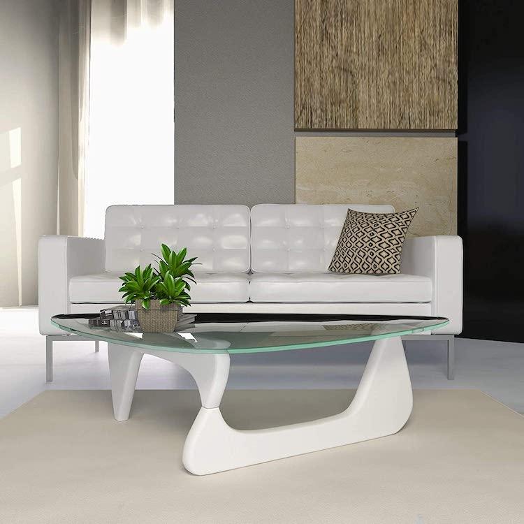 White Replica of Noguchi Table by Isamu Noguchi